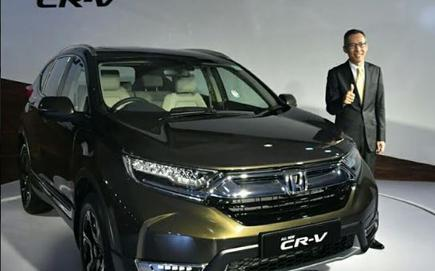 Gaku Nakanishi President And Chief Executive Officer Honda Cars India During The Launch Of All New Cr V In Delhi On Tuesday