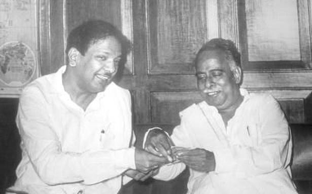 Image result for anna with karunanidhi