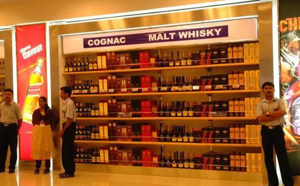 liquor is most sought-after item in duty-free shops - the hindu