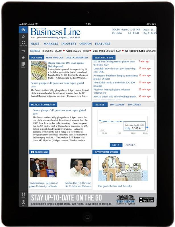 The Business Line iPad app - redefining the way you consume news