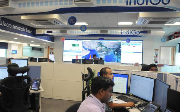 B Line A View Of The Operations Control Centre This Is Considered The Nerve Centre Of Most Airlines Including Indigo Shown In Picture The Staff Sitting In Front Of The Giant Television Screen With