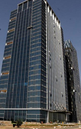 Gift city gets a budget bonus business line the two towers of the gift city near ahmedabad file photo negle Gallery