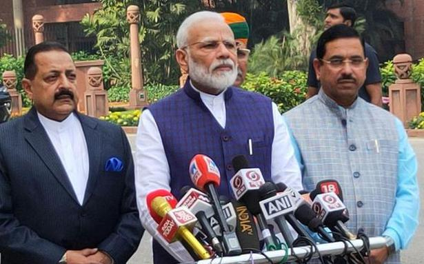 Modi: Govt ready to discuss all issues in Winter Session of Parliament